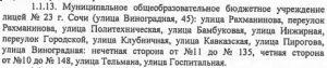 Распорядительный акт органа местного самоуправления муниципального района городского округа о закреплении ОО за конкретными территориями города Сочи
